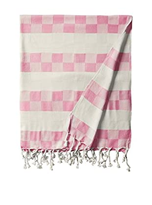 Nomadic Thread Handwoven Towel Cube, Natural/Pink