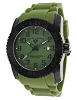 Commander Ii Green Silicone Green Dial (10068-Bb-017)