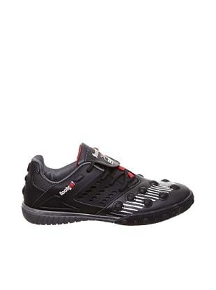 Footgol Sneakers Schnürung seitlich (Schwarz/Silber/Rot)