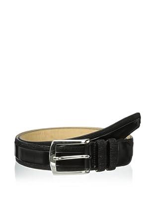 Mezlan Men's Suede City Belt (Black)