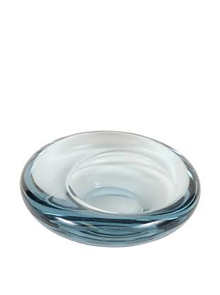 Holmegaard Large Glass Tilt Design, Blue