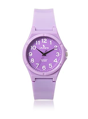 Laurens VQ88J900Y Purple Rubber Water Resistant Watch