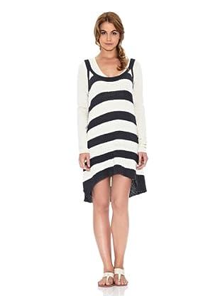 American Vintage Vestido Tirantes (Blanco / Negro)