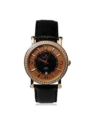 Croton Women's CN207433RGSL Black Leather Watch