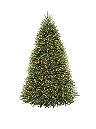 National Tree Company 9' Dunhill Fir Hinged Tree with Lights