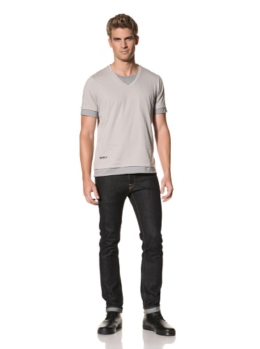 MNRKY Men's Short Sleeve Double-Layer Tee (Steel Grey)