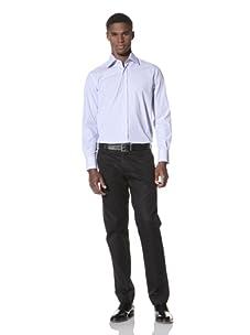 Valentino Men's Dress Shirt (Blue/Light Blue Stripe)