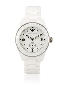 Emporio Armani Men's White/White Textured Ceramic Watch