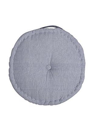 Lene Bjerre Laura Round Seat Cushion, White/Medium Blue