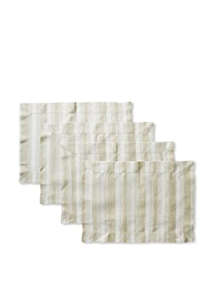 Sferra Set of 4 Ascot Placemats (Olive)