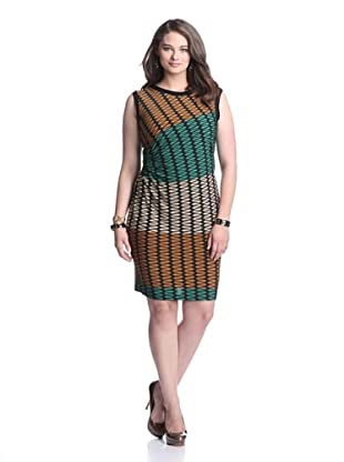 Julian Taylor Women's Printed Dress (Emerald/Gold)