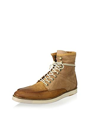 J SHOES Men's Operator Plus Ankle Boot (Mid Brown)