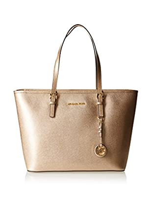 Michael Kors Bolso shopping Jet Set Travel Top-Zip Metallic Tote