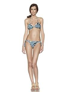 diNeila Brazil Women's Thai Tropical Bikini Top & Bottoms (Tropical)