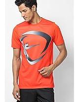 Orange Round Neck T-Shirts