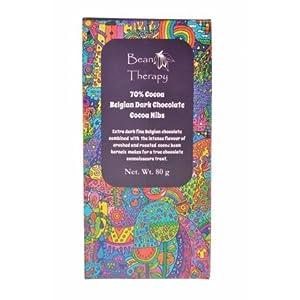 Bean Therapy 70% Belgian Dark Chocolate Cocoa Nibs (80g)