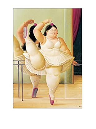 Artopweb Panel Decorativo Botero Ballerina To The Handrail 49x70 cm Multicolor
