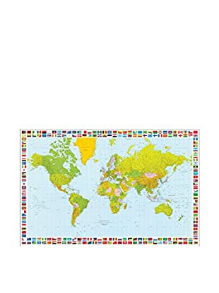 ARTOPWEB Wandbild Carta Map Of The World 115x175 cm