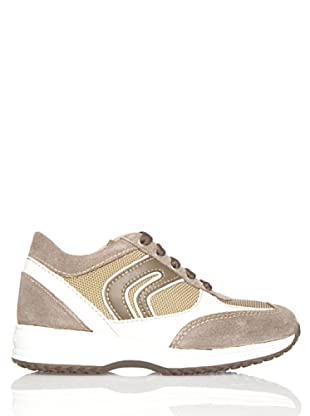 Geox Zapatillas Happy (Beige / Blanco)