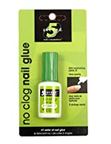 5 Second Nail No-clog Nail Glue, 3-Gram (Pack of 4)