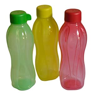 Tupperware Aquasafe Bottle, Multicolor, 500ml, Set of 3