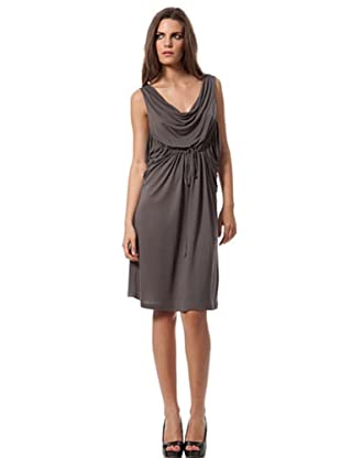 Caramelo Vestido Clásico (gris)
