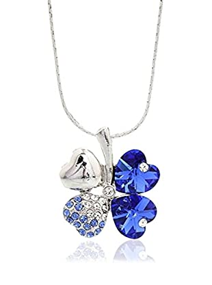 Crystal from Swarovski Collar Azul / Plateado