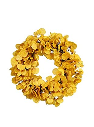 Winward Aspen Leaf Wreath, Yellow