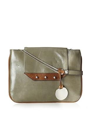 Hayden Harnett Women's Boisson Clutch, Charcoal Shine/Luggage