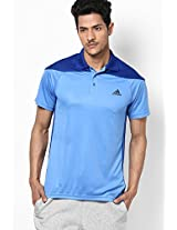 Blue Polo T-Shirt Adidas