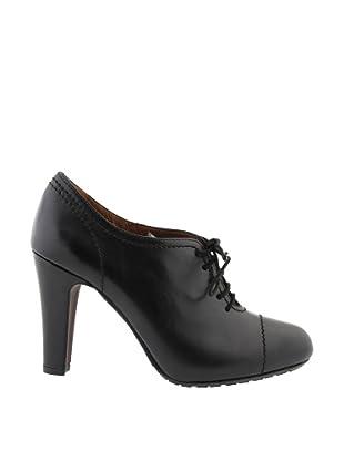 Paco Herrero Zapatos Tacón Cordones (Negro)