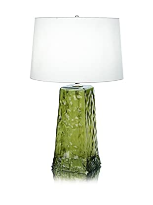 Lighting Accents Wave Recycled Glass Table Lamp (Chartruese)