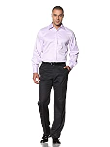 Yves Saint Laurent Men's New York Italian Collar Dress Shirt (Lilac)