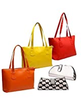 Womens Delight Combo Fidato Set of 3 Ladies Bags 2 Clutches