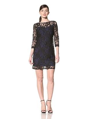 Donna Morgan Women's Lace Dress with Slip (Black)