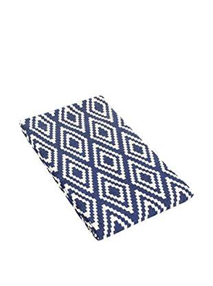 Glam Home Teppich Nirmal blau/weiß
