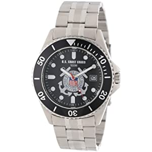 "U.S. Coast Guard Men's 0825HCG10 ""Honor"" Stainless Steel Watch"