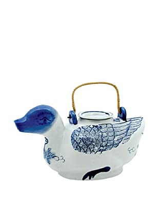 Dynasty Gallery Antique Replica Duck Teapot (Blue/White)