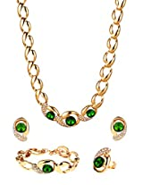 Green crystals stylish Jewellery Set