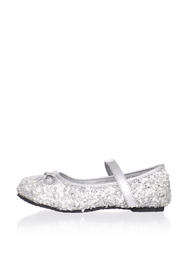 China Doll Girl's Glam Sequin Mary Jane (Silver Trophy)