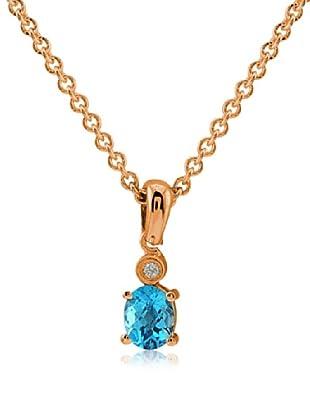 Divas Diamond Collar Diamante Topacio Azul