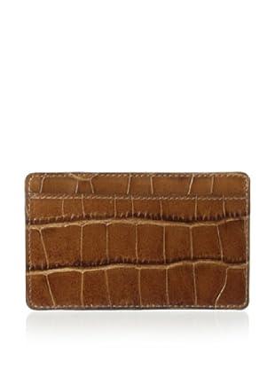 Leone Braconi Men's Stampato Credit Card Holder (Cognac)