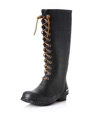 SeaVees Women's Off Shore Full-Length Rain Boot (Black)