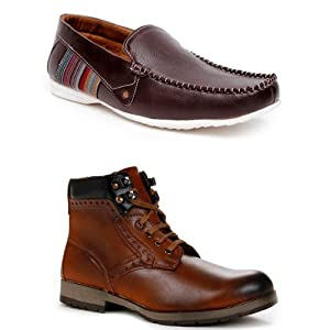 Bacca Bucci Men Boots And Loafers Combo 4700loas2150