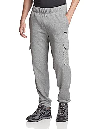 PUMA Men's Mesh Cargo Pant (Medium Gray Heather)