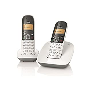 Gigaset A490 Duo Cordless Phone-White