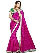 Zoom Embroidered Saree (3124_Dark Pink)