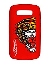 Ed Hardy Silicone Tiger Skin for BlackBerry 9700 - Red