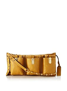 Gryson Women's Riley Spiked Chain Solid Triple Pocket Cross-Body (Biscotto)