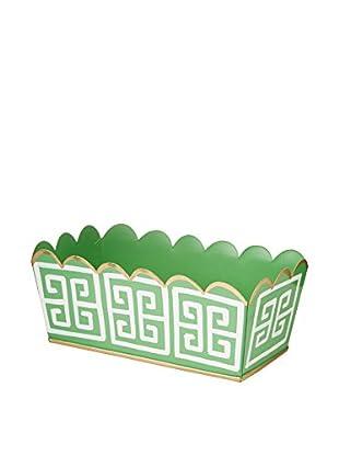 Jayes Greek Key Bathroom Storage, Green